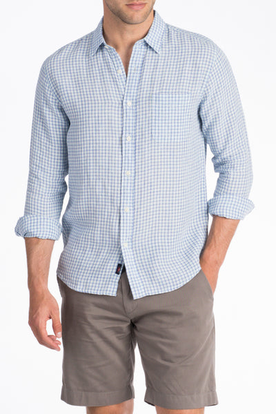 Linen Ventura Shirt - Blue Check