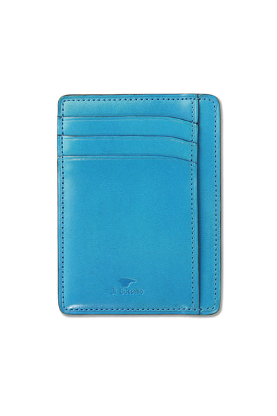 Il Bussetto Leather Card Case - Blue