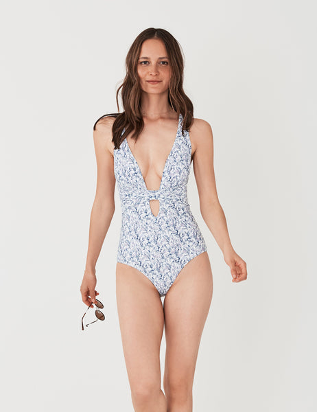 Santorini One Piece - In Bloom White