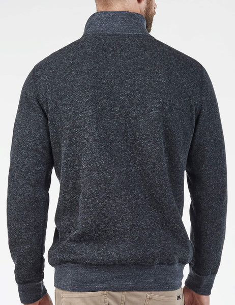 Heather Dual Knit Pullover - Washed Black