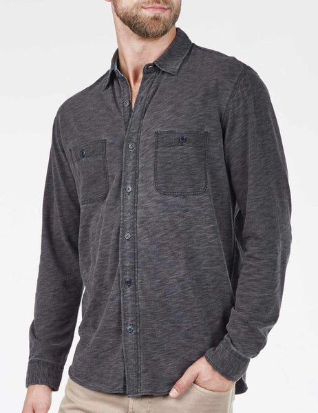 Knit Seasons Shirt - Black Indigo Wash