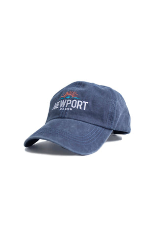 Newport Beach Wash Ball Cap - Navy