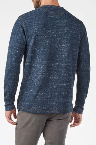Dual Knit Henley - Navy