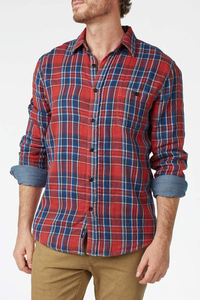 Doublecloth Shirt - Red Orchard Plaid