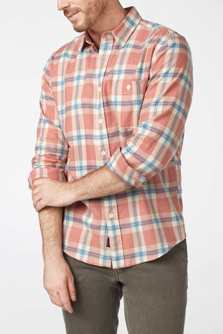 Organic Cotton Field Shirt - Country Red Plaid