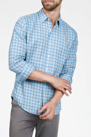 Ultra-Fine Newport Check Shirt - Teal Check