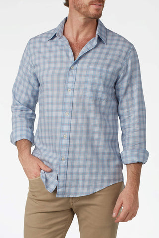 Ultra-Fine Newport Check Shirt - Blue & Red Check