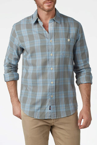 Organic Cotton Field Shirt - Cloudy Sky Plaid