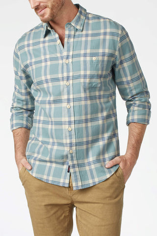 Organic Cotton Field Shirt - Seafoam Plaid