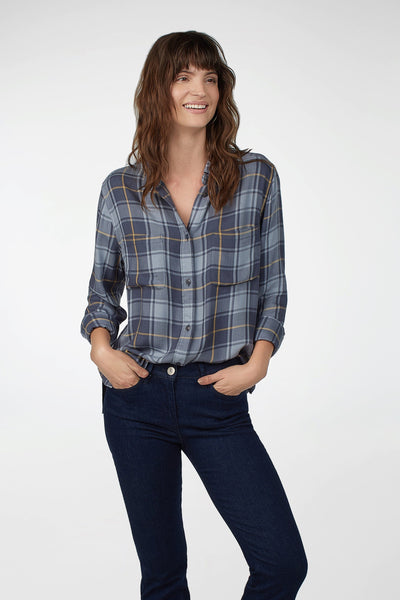 Sierra Shirt - Open Ocean Plaid