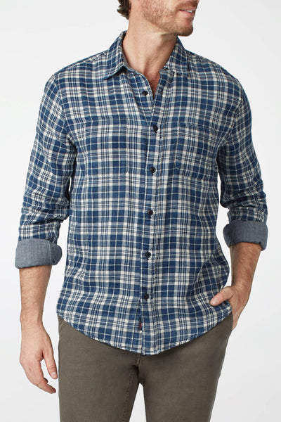 Reversible Belmar Shirt - Indigo & White Plaid / Chambray