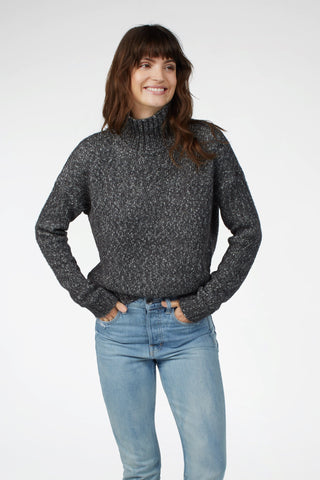 Telluride Mock Neck Sweater - Charcoal
