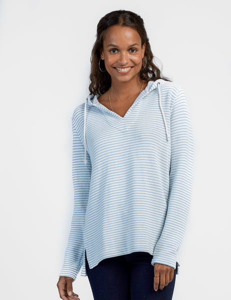 San-O Poncho - Pacific Blue Stripe