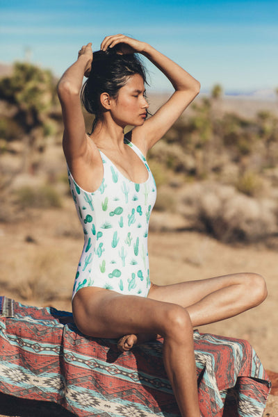 Reversible Mykonos One Piece - Desert Heat/White
