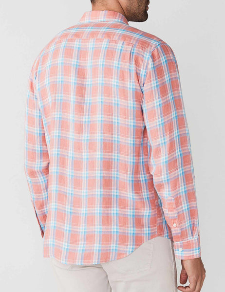 Linen Ventura Shirt - New Coral Plaid