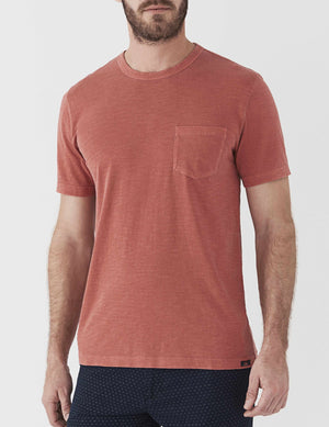 Sunwashed Pocket Tee - New Red