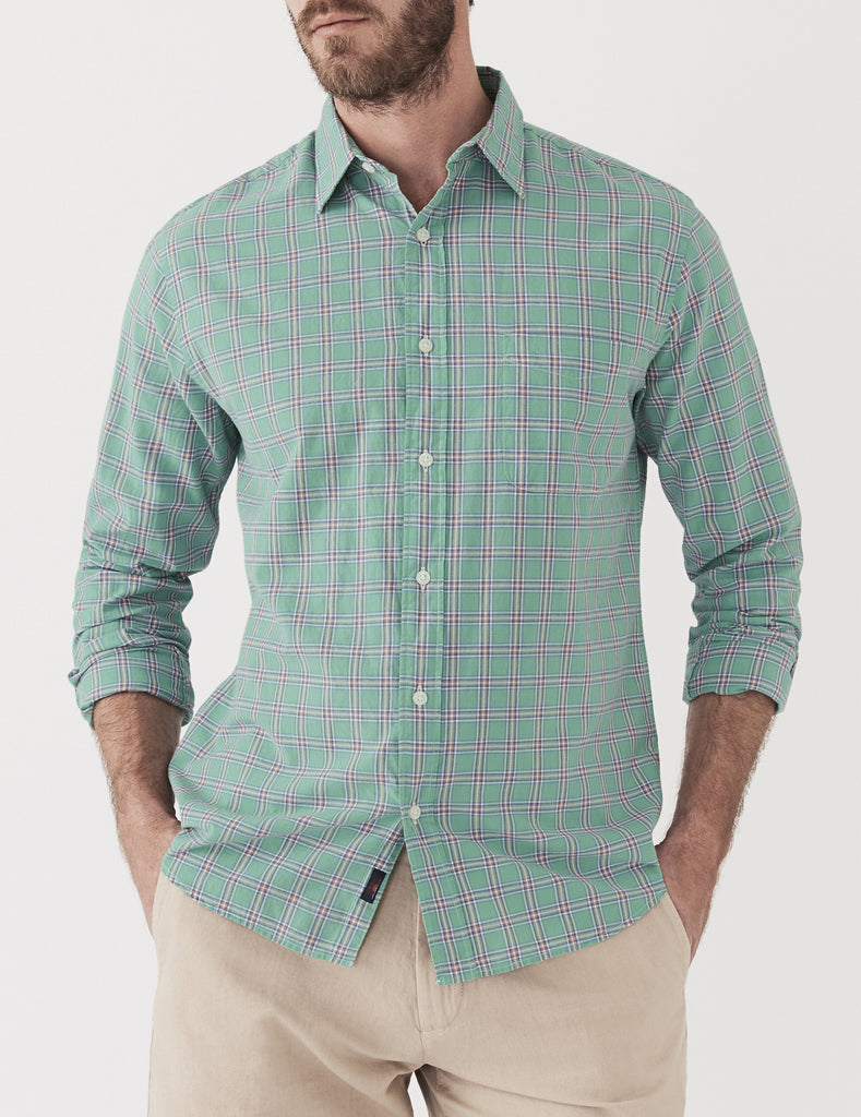 Ventura Shirt - Red On Turquoise