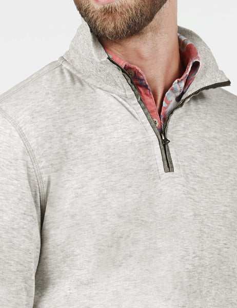 Heather Dual Knit Pullover - Athletic Grey