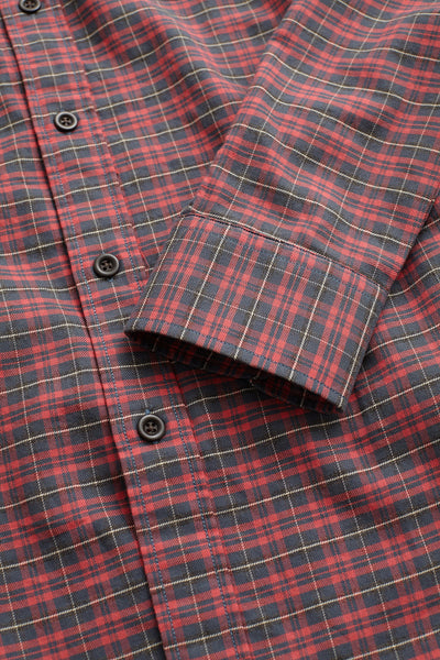 Ultra-Fine Newport Check Shirt - Red Cabin Check