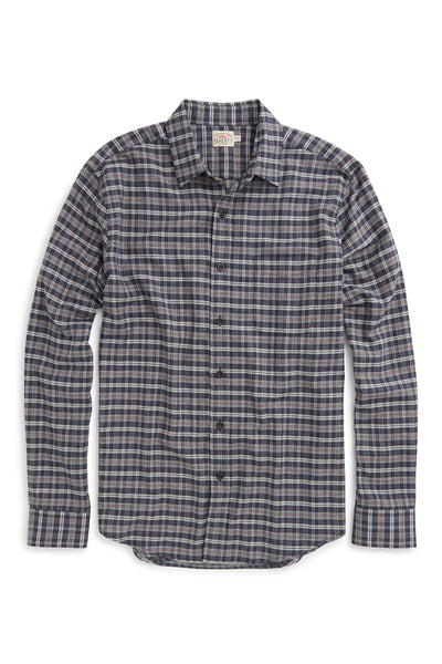 Ultra-Fine Newport Check Shirt - Navy Winter Check