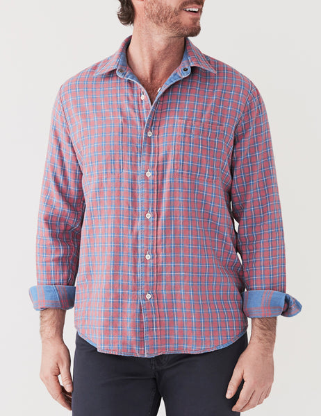 Reversible Belmar Shirt - Indigo & Red Plaid