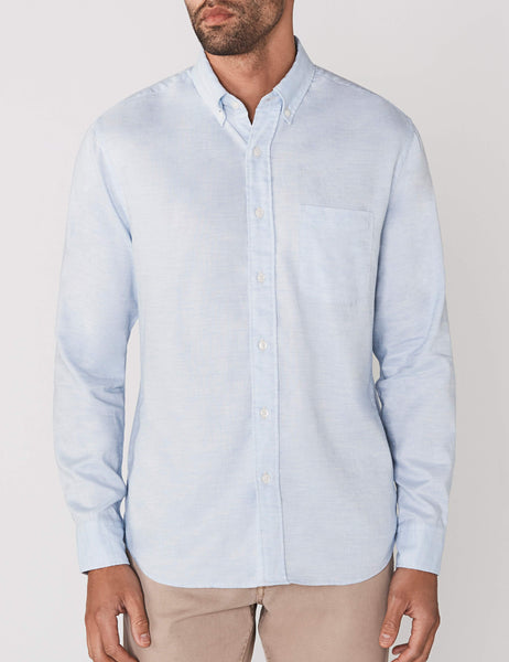 Melange Oxford Shirt - Blue Heather