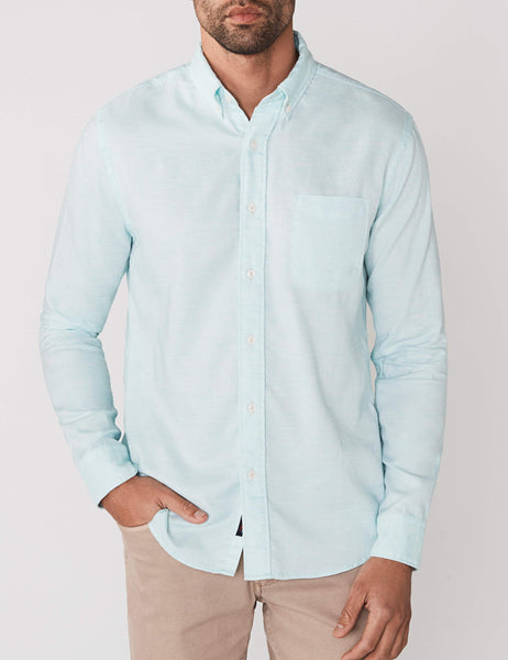 Melange Oxford Shirt - Teal Heather