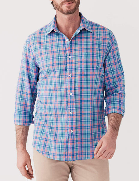 Ventura Shirt - Blue & Rose Multi