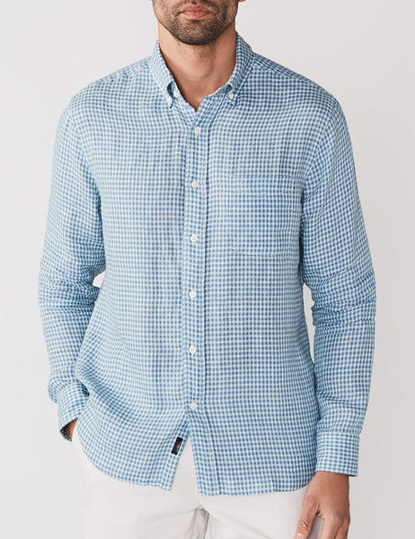 Teal Blue Gingham