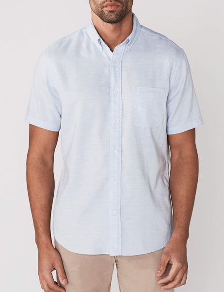 Short-Sleeve Ventura Shirt - Blue Heather