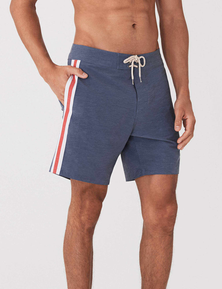 fe5117e104 Retro Surf Stripe Boardshort - Blue Red White – Faherty Brand