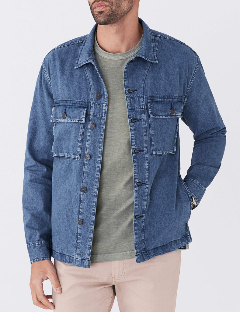 Hemp Corporal Jacket - Medium Indigo