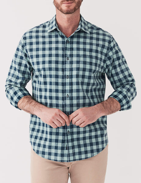 Ventura Shirt - Indigo Sea Buffalo Check
