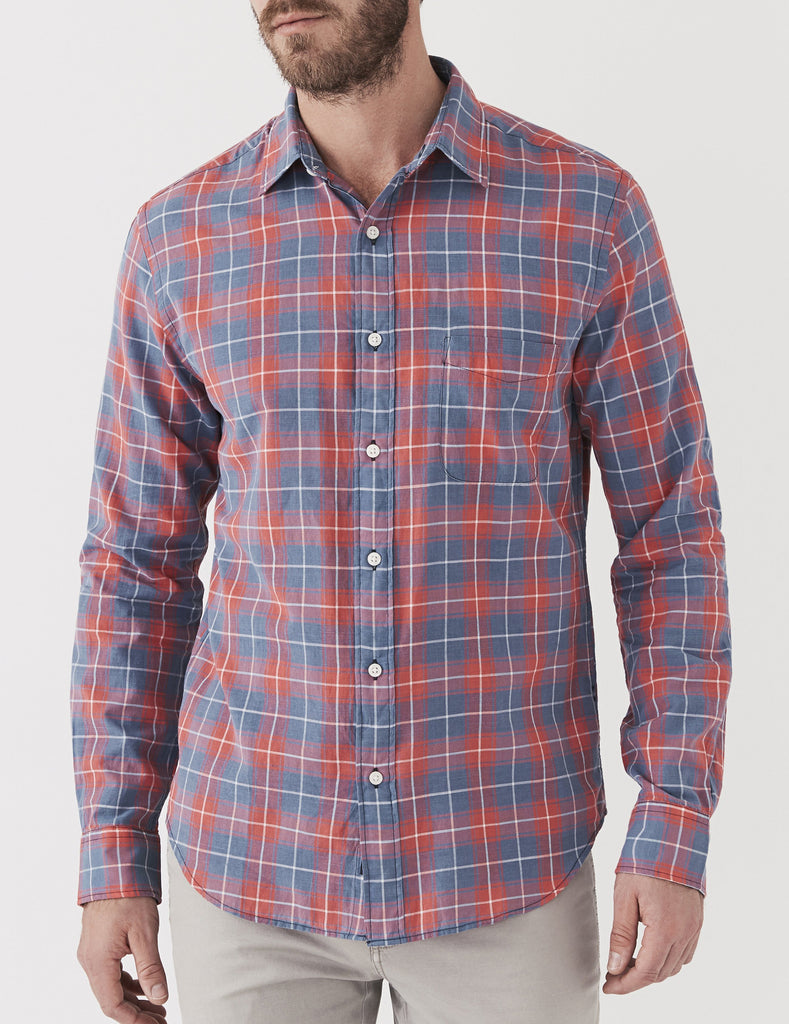 Ventura Shirt - Indigo Red Plaid