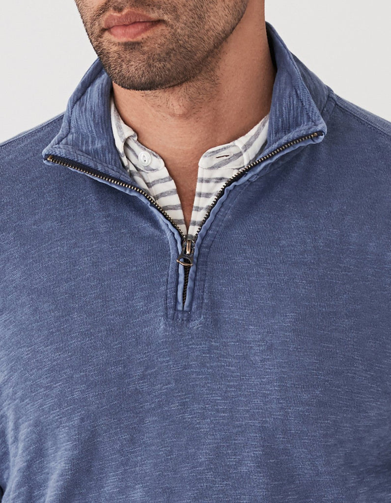 Slub Cotton Pullover - Antique Blue
