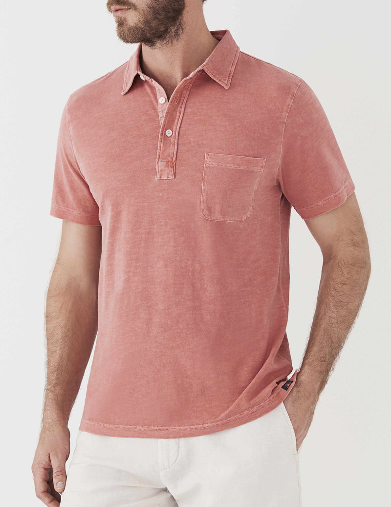 Sunwashed Polo - Faded Red