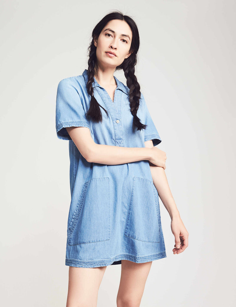 Ivy Popover Dress - Chambray