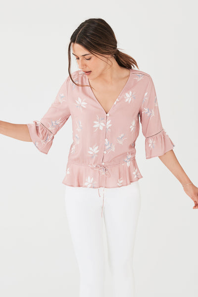 Athena Top - Sunkissed Lotus Blossom