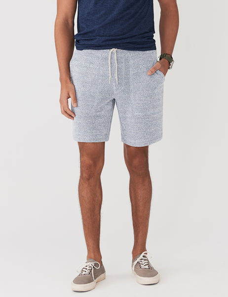 Backloop Jacquard Sweatshort - Whitewater
