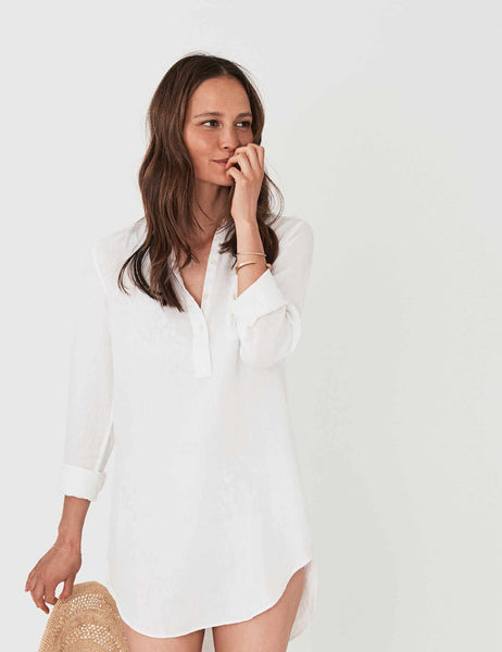 Lighthouse Shirt Dress - White