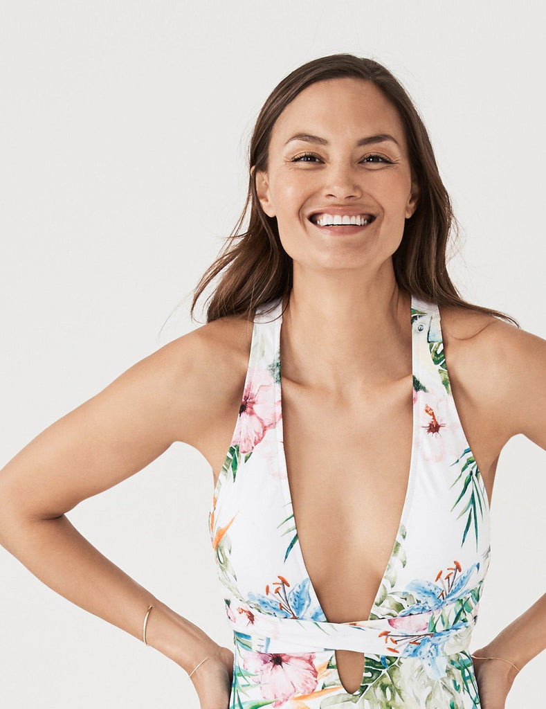 Santorini One Piece - Toucan Floral