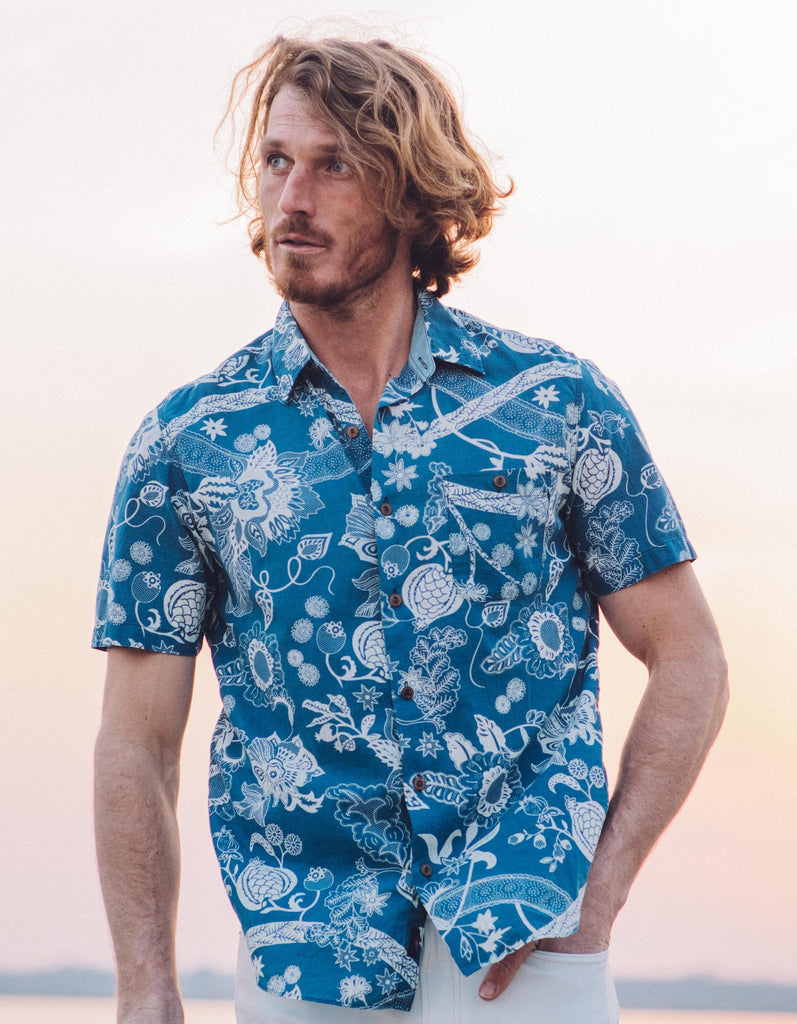 Short-Sleeve Coast Shirt - Kenji Floral