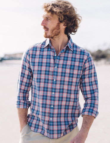 Ventura Shirt - Blue Rose Plaid
