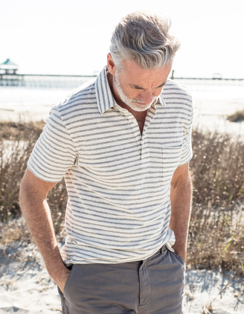 Isle Stripe Polo - Natural