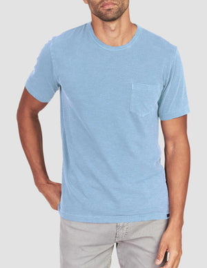 Sunwashed Pocket Tee - Azure