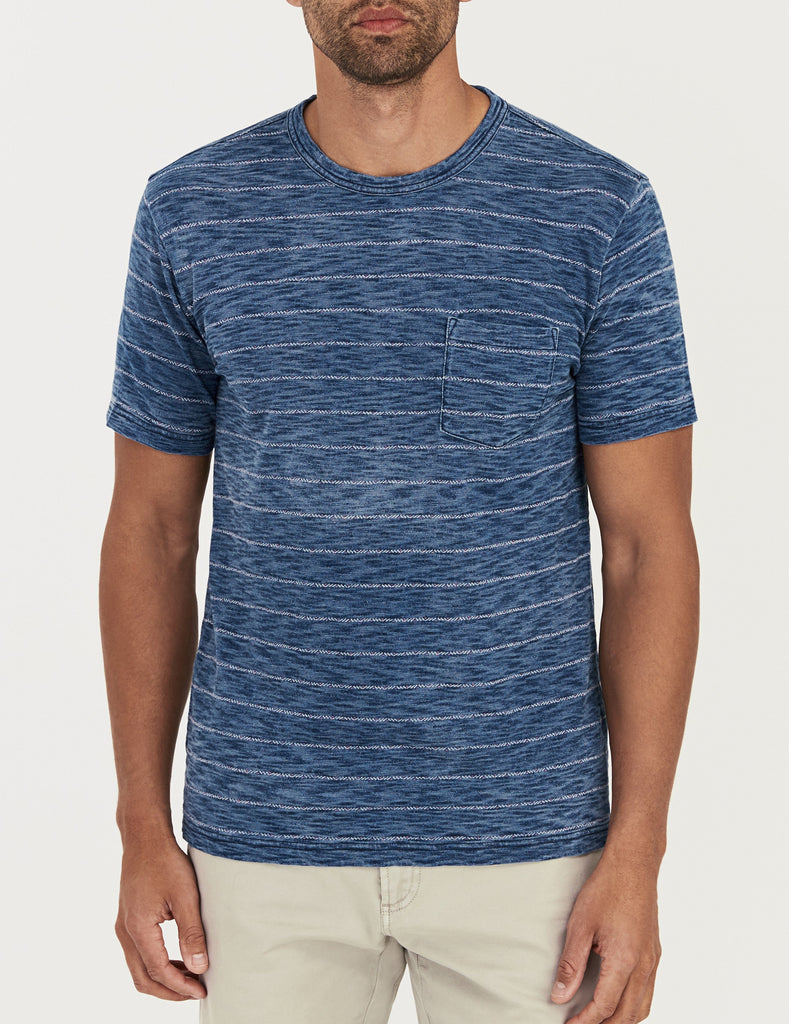 Stitch Tee - Medium Java Indigo