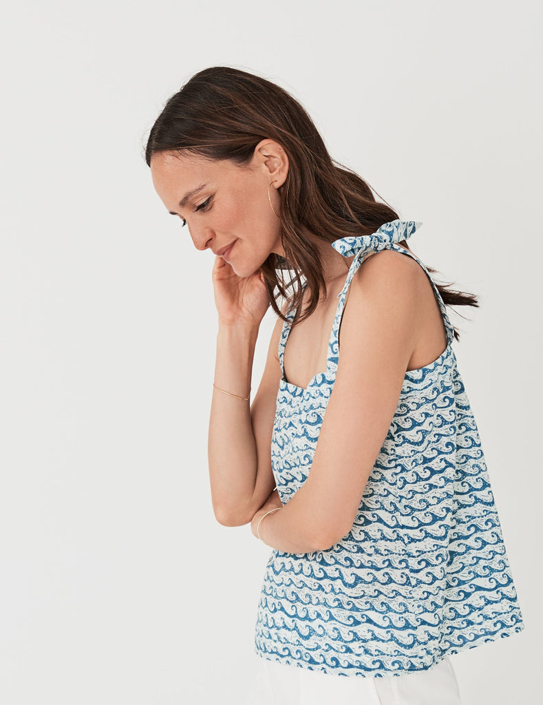 Frida Top - Wave Print