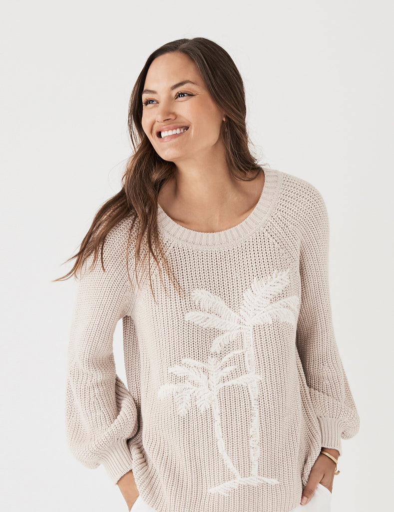 Royal Palm Sweater - Beach