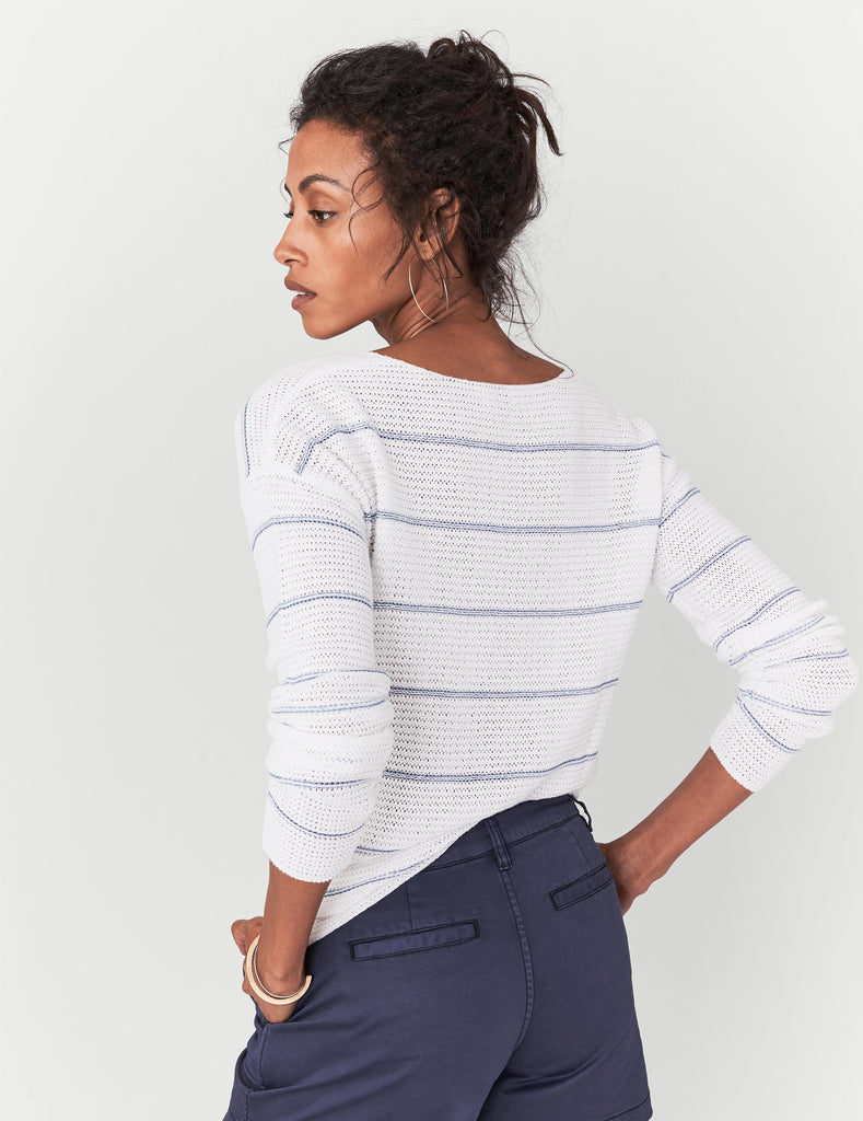 Royce Sweater - Sea Stripe