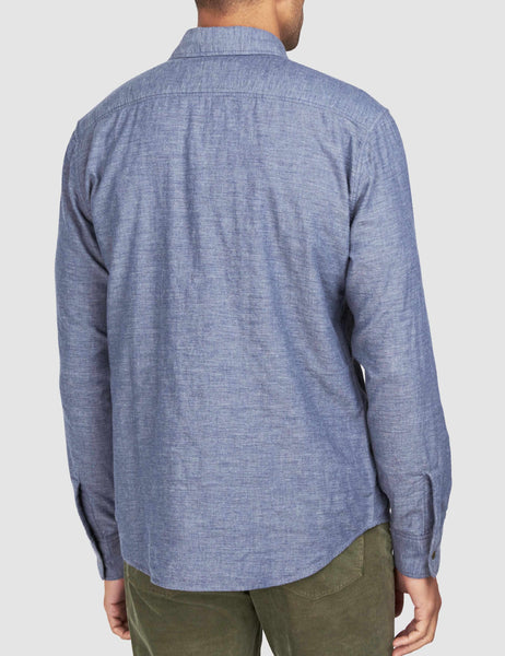 Reversible Belmar Shirt - Slate Heather/Serape